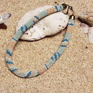 Vintage Spiral Beaded Necklace